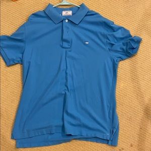 Southern Tide Light Blue Polo Collared Shirt